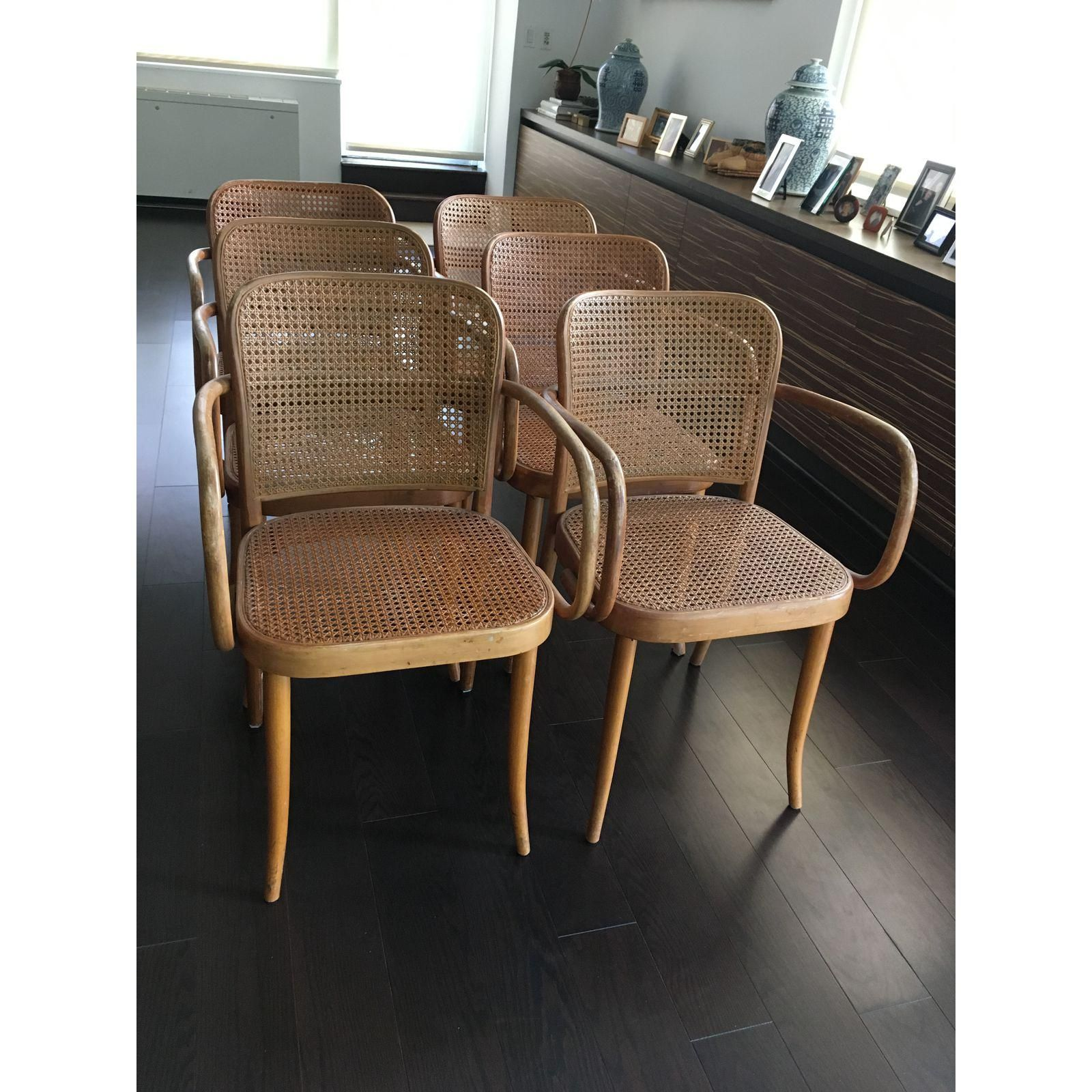 Josef Hoffmann Thonet No 811 Bentwood Cane Chairs   Set Of 6   Image 5 Of 5