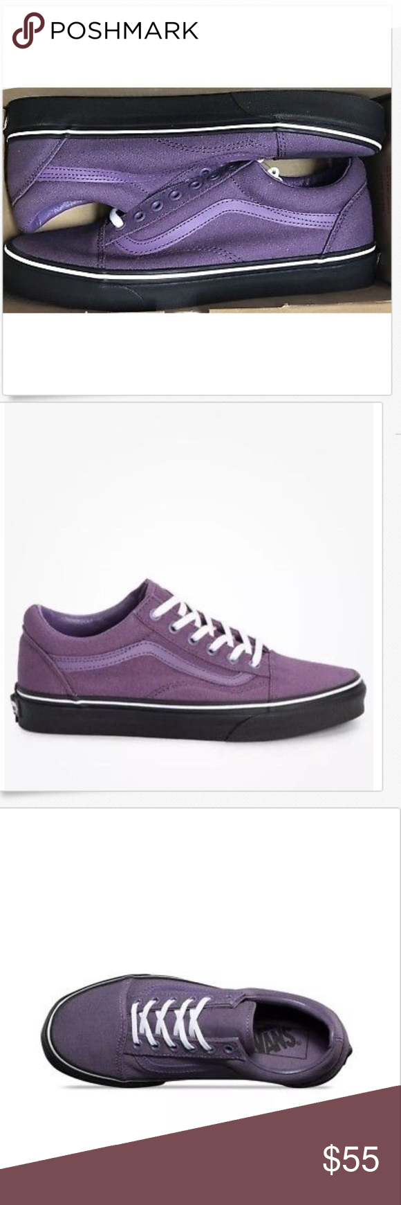 efa6e1a458 Vans Old Skool Black Outsole Montana Grape Shoes🌹 Vans Old Skool Black  Outsole Montana Grape Shoes Size Men 9 Women 10.5 Brand new in box Vans  Shoes ...