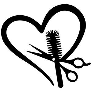 Download Hairstylist love | Silhouette design, Silhouette ...