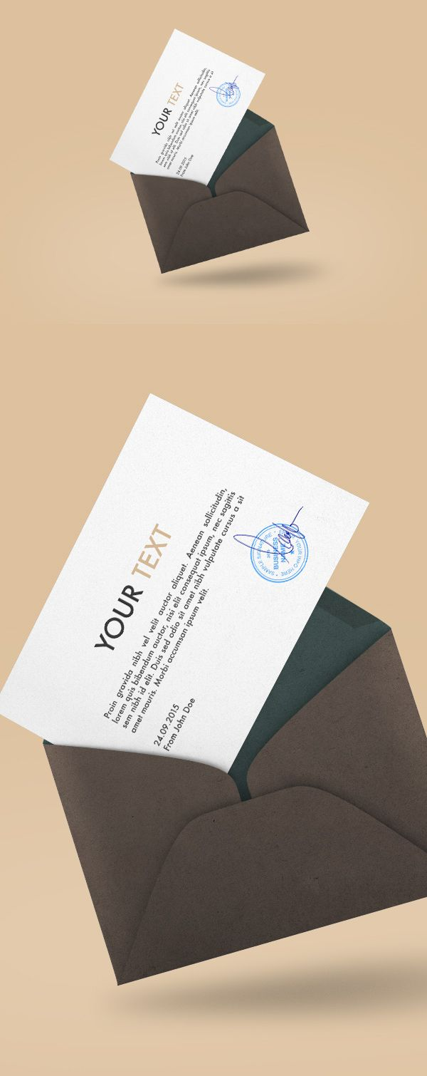 Free Floating Envelope Mockup | alienvalley.com | #free #mockup ...