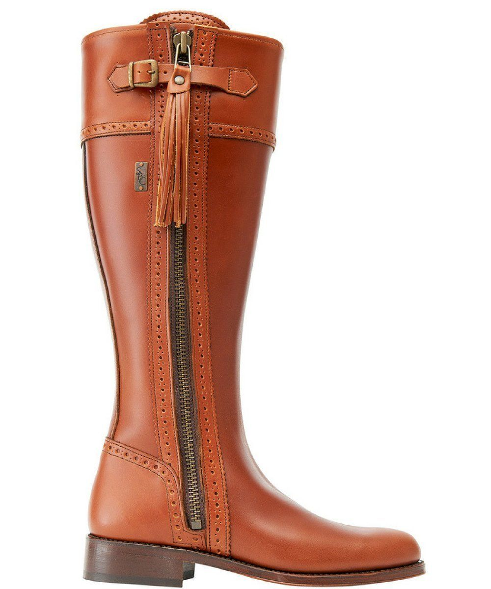 Spanish Riding Boots Classic Tan Leather Sole Wide Calf Fit Riding Boots Spanish Riding Boots Wide Calf Boots