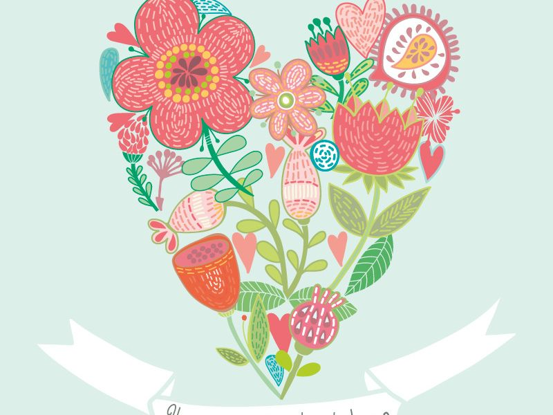 Floral heart by Marusha