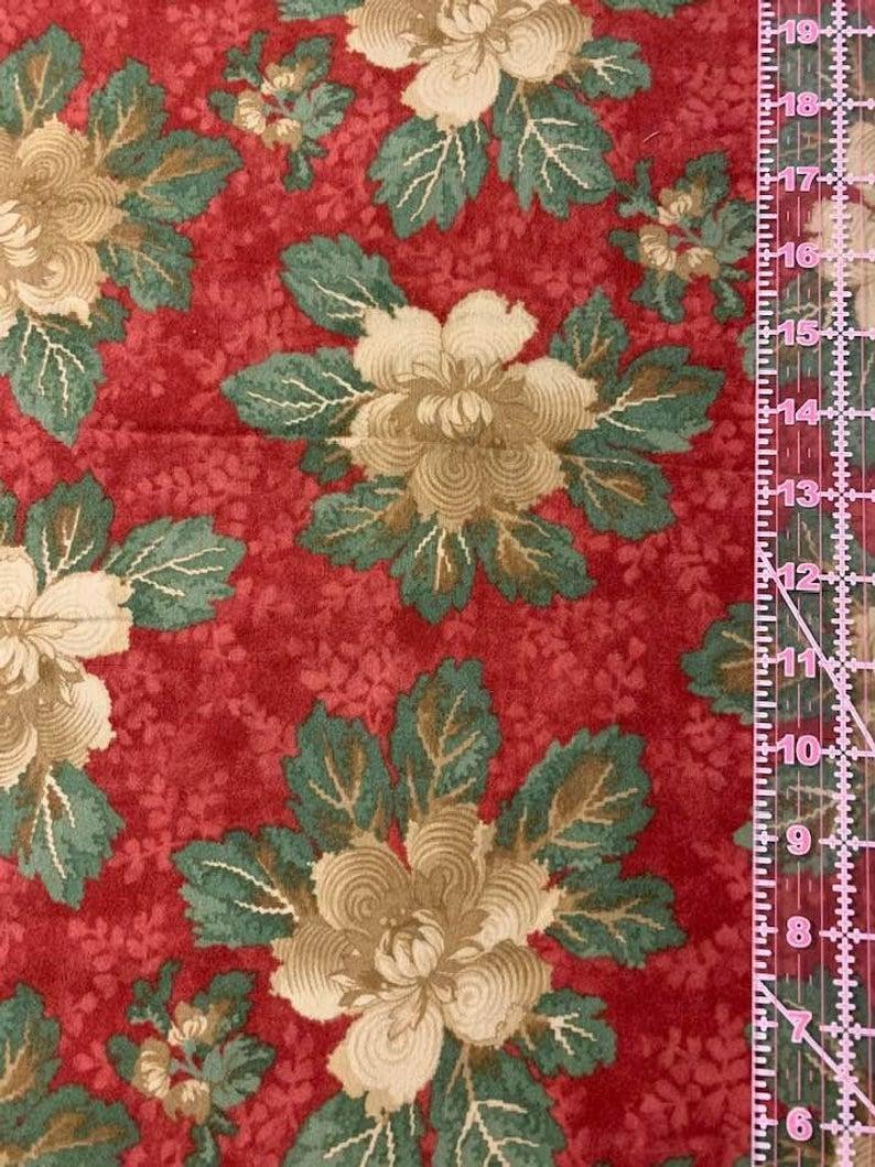 Folk' floral brushed cotton