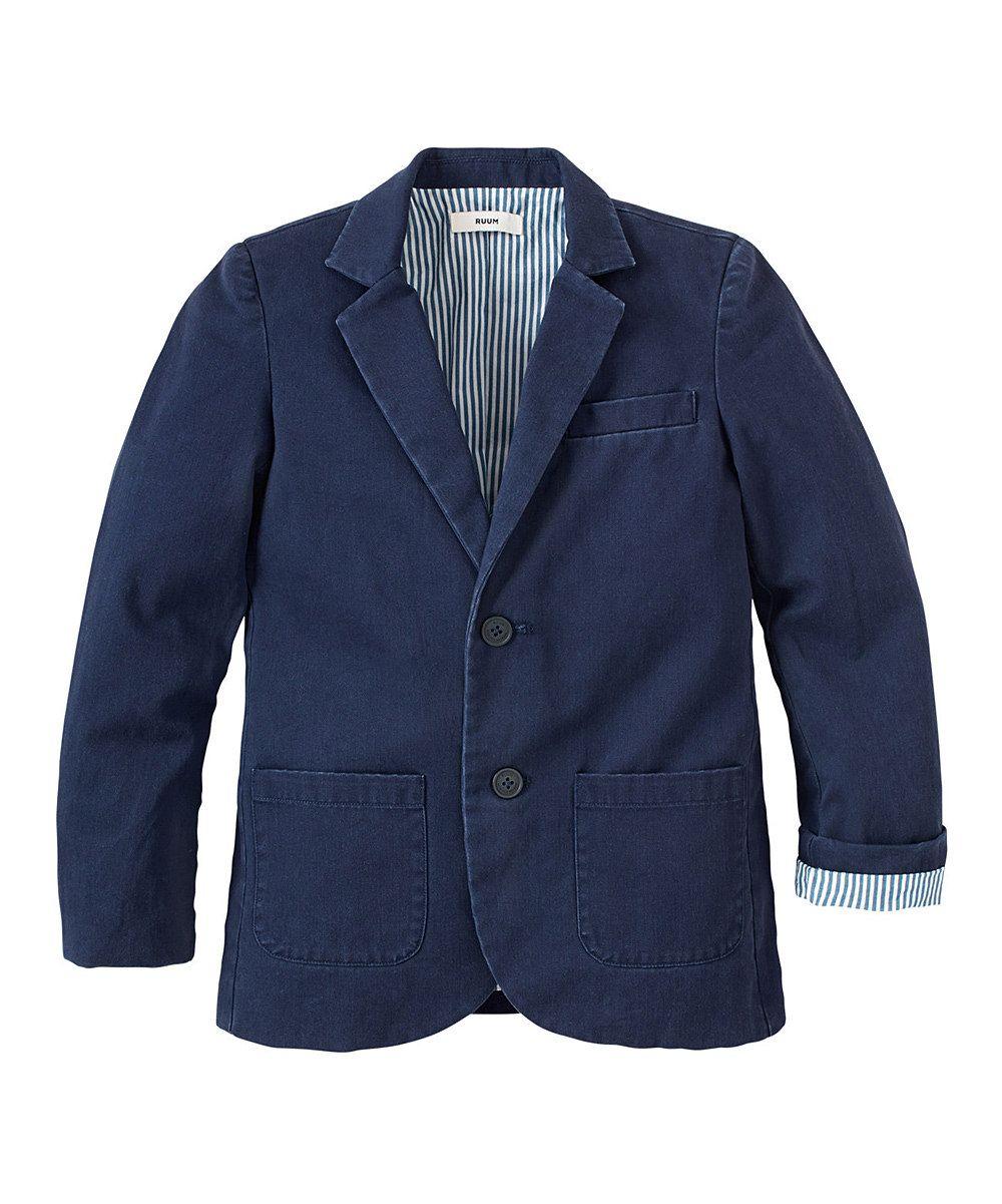481a6a7a6 Love this Navy Dressy Blazer - Boys by RUUM on  zulily!  zulilyfinds ...