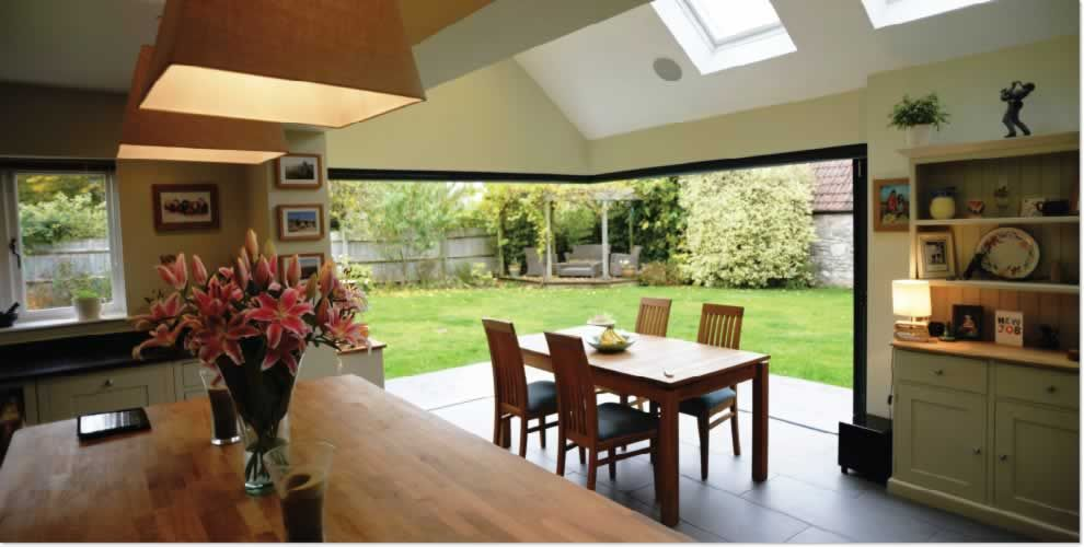 kitchen bifold doors wood burner google search kitchen reno ideas pinterest wood burner bi folding doors and log burner