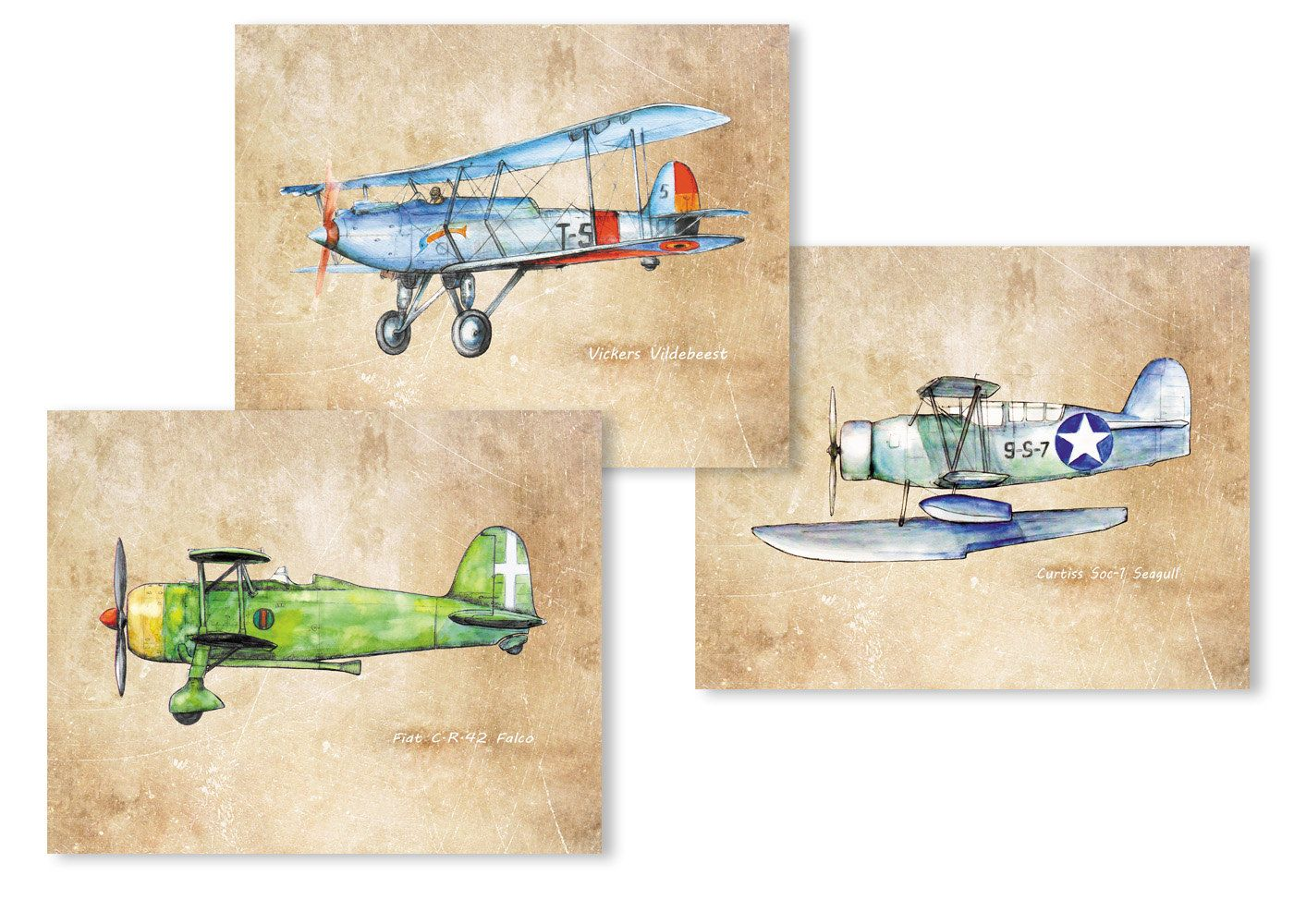 Airplane decor for boys nursery vintage style aviation Vintage airplane decor for nursery