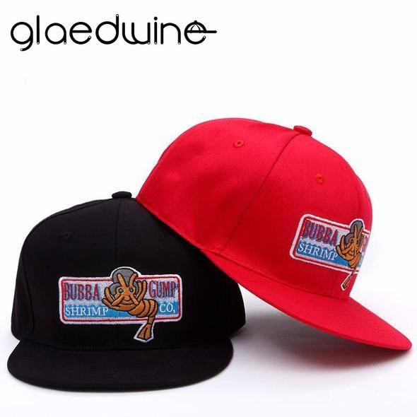 6e5518d3 Glaedwine 1994 Bubba Gump Shrimp CO. Baseball Hat Forrest Gump Costume  Cosplay Embroidered Snapback Cap