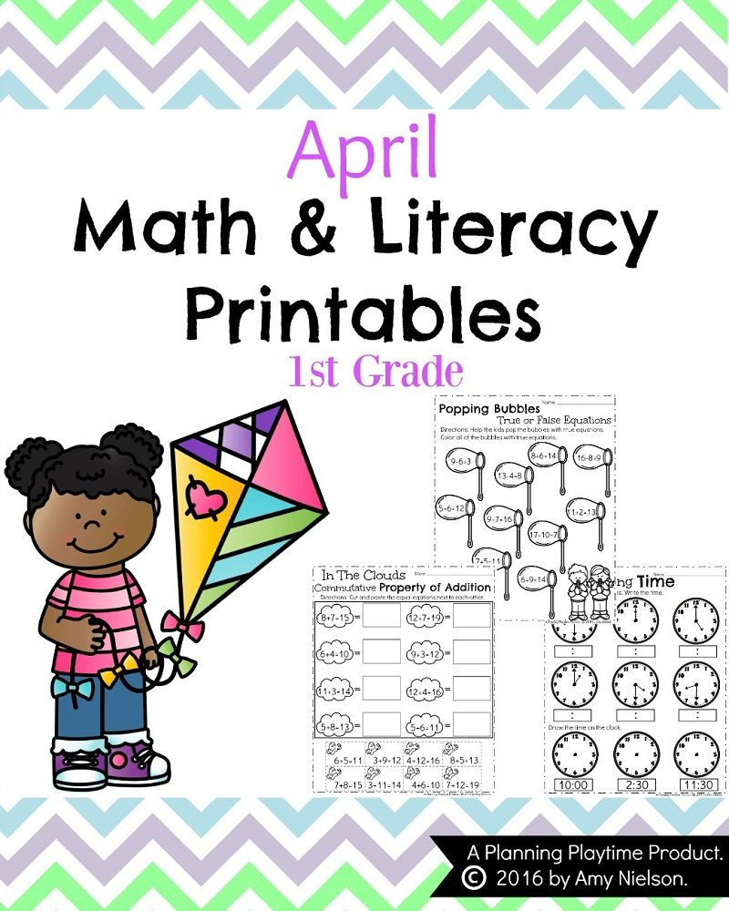 medium resolution of First Grade Worksheets for Spring   First grade worksheets