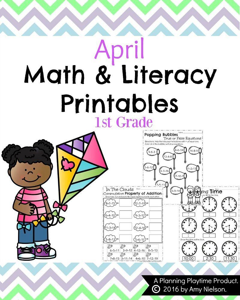 First Grade Worksheets for Spring   First grade worksheets [ 1000 x 800 Pixel ]