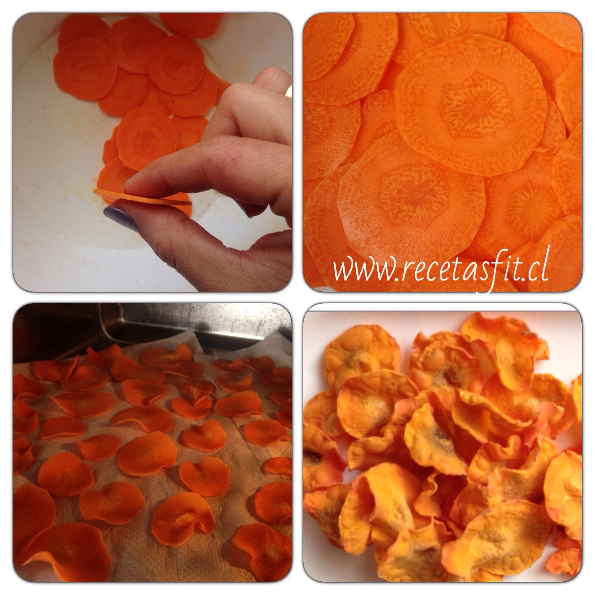 Chip De Zanahoria Al Microondas Snack Ideal Receta Facilisima En Www Recetasfit Cl Recetas Para Cocinar Recetas Veganas Cocina Saludable