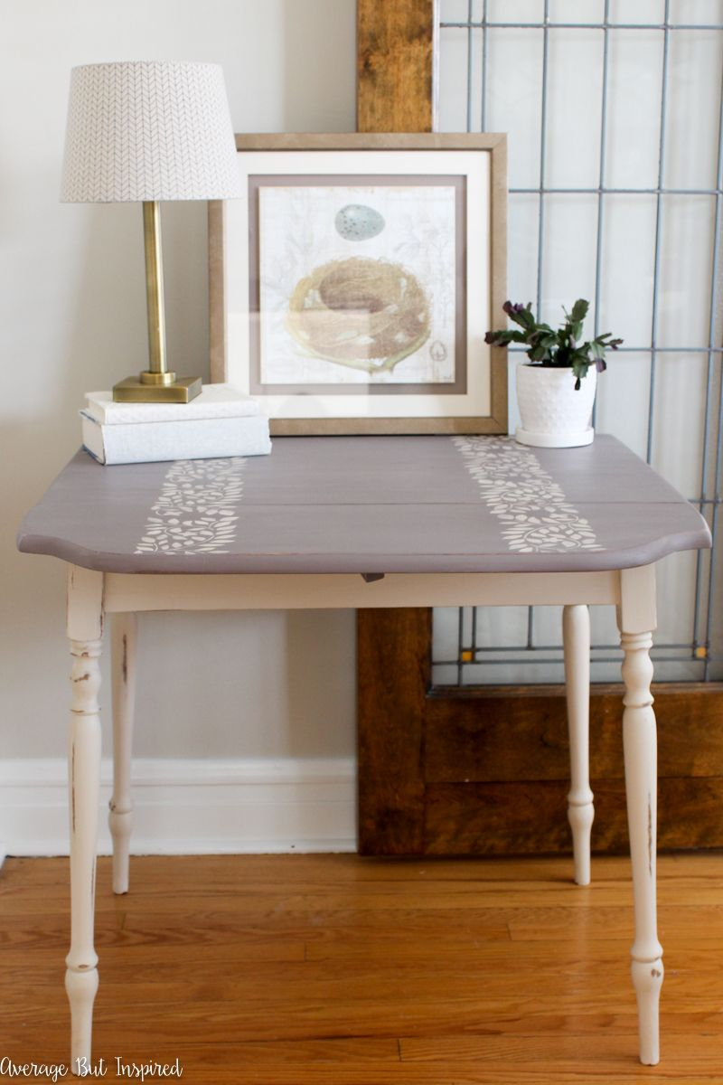 Chalk painted drop leaf table makeover drop leaf table