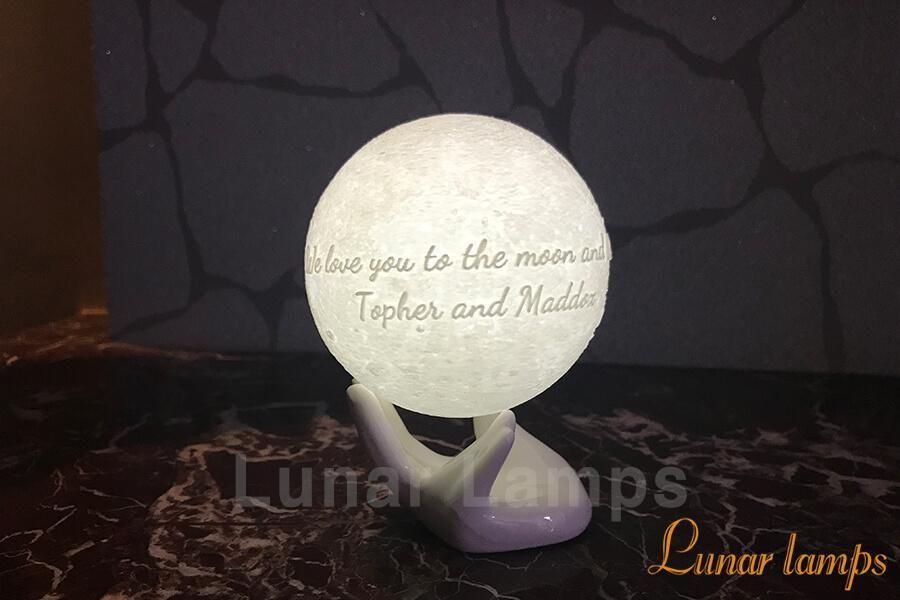 Customized Moon Lamp High Contrast Photos Photo Engraving Custom Keepsake