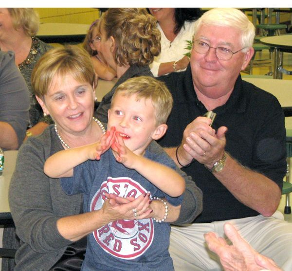 Mom, Dad and Aidan at Mom's retirement party - MHS