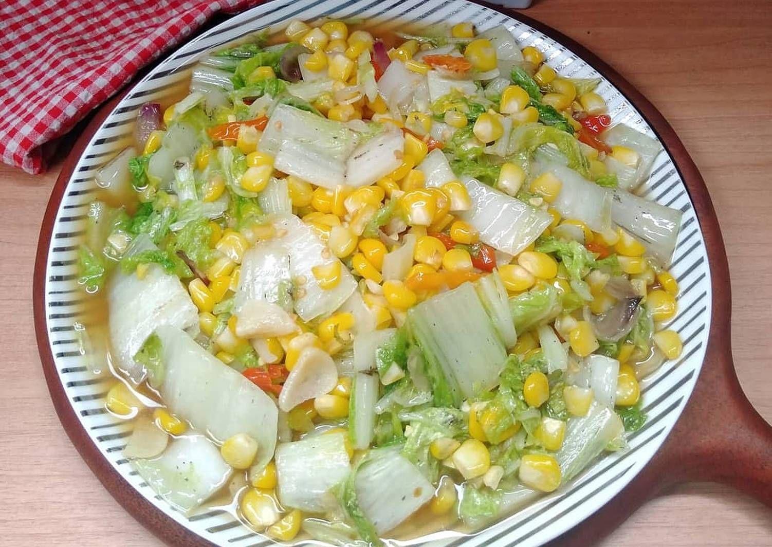 Resep Tumis Sawi Putih Jagung Manis Oleh Susan Mellyani Resep Tumis Resep Masakan Resep Makanan