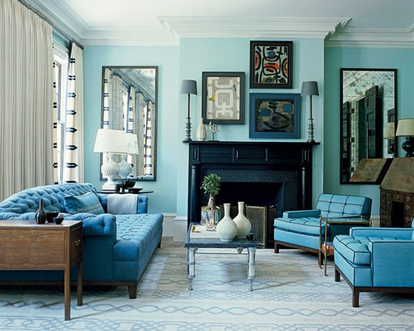 Awesome Interesting Blue Color Schemes For Living Room | InteriorHolic.com Part 5