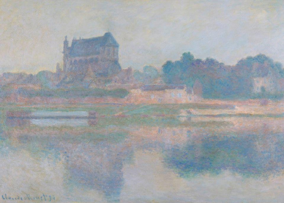 Claude Monet - L'Église de Vernon, Temps gris, 1894 #arte