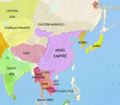 History map of east asia china korea japan 1453ad maps history map of east asia china korea japan 1453ad gumiabroncs Choice Image