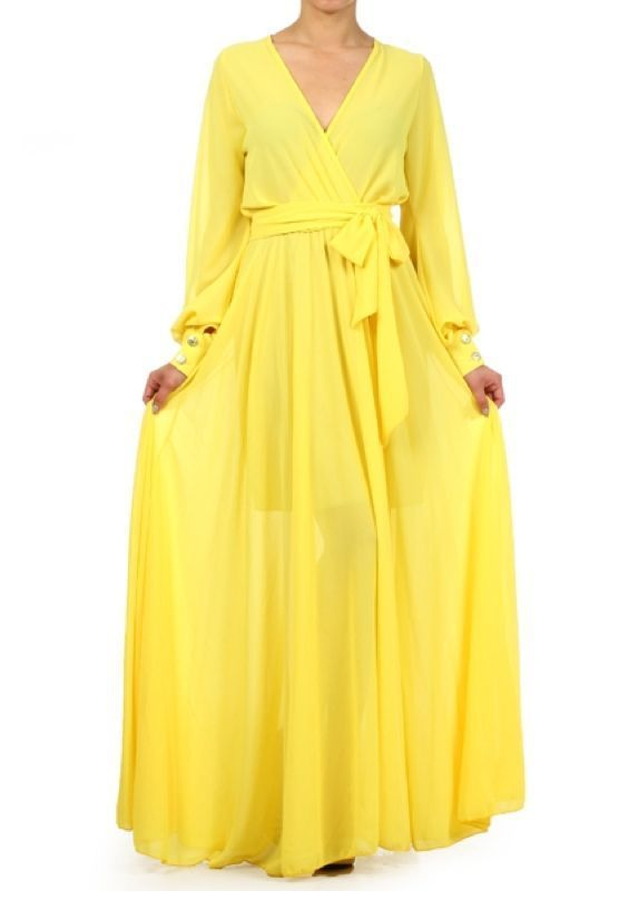 Long Chiffon Maxi Dress