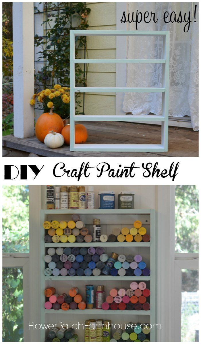 Build An Easy Diy Craft Paint Shelf Organize All Those Little