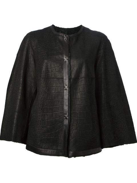Shop Giorgio Armani crocodile effect cape in Apropos The Concept Store from the world's best independent boutiques at farfetch.com. Over 1000 designers from 60 boutiques in one website.