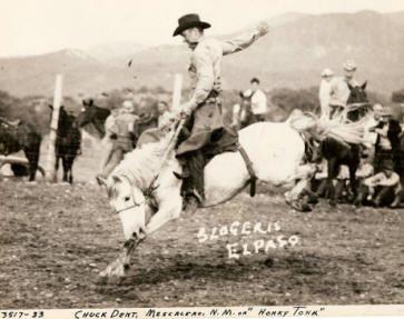 A HORSE CALLED 'HONKY TONK' - Chuck Dent of Mescalero, New Mexico on 'Honky Tonk' - Saddle Bronc Riding - El Paso, TX.