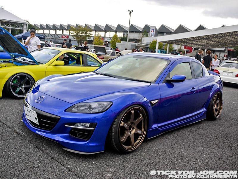 Mazda Rx8 Blue Volk Te37 Bronze Rides Styling Mazda Cars Mazda Mazda Rx7