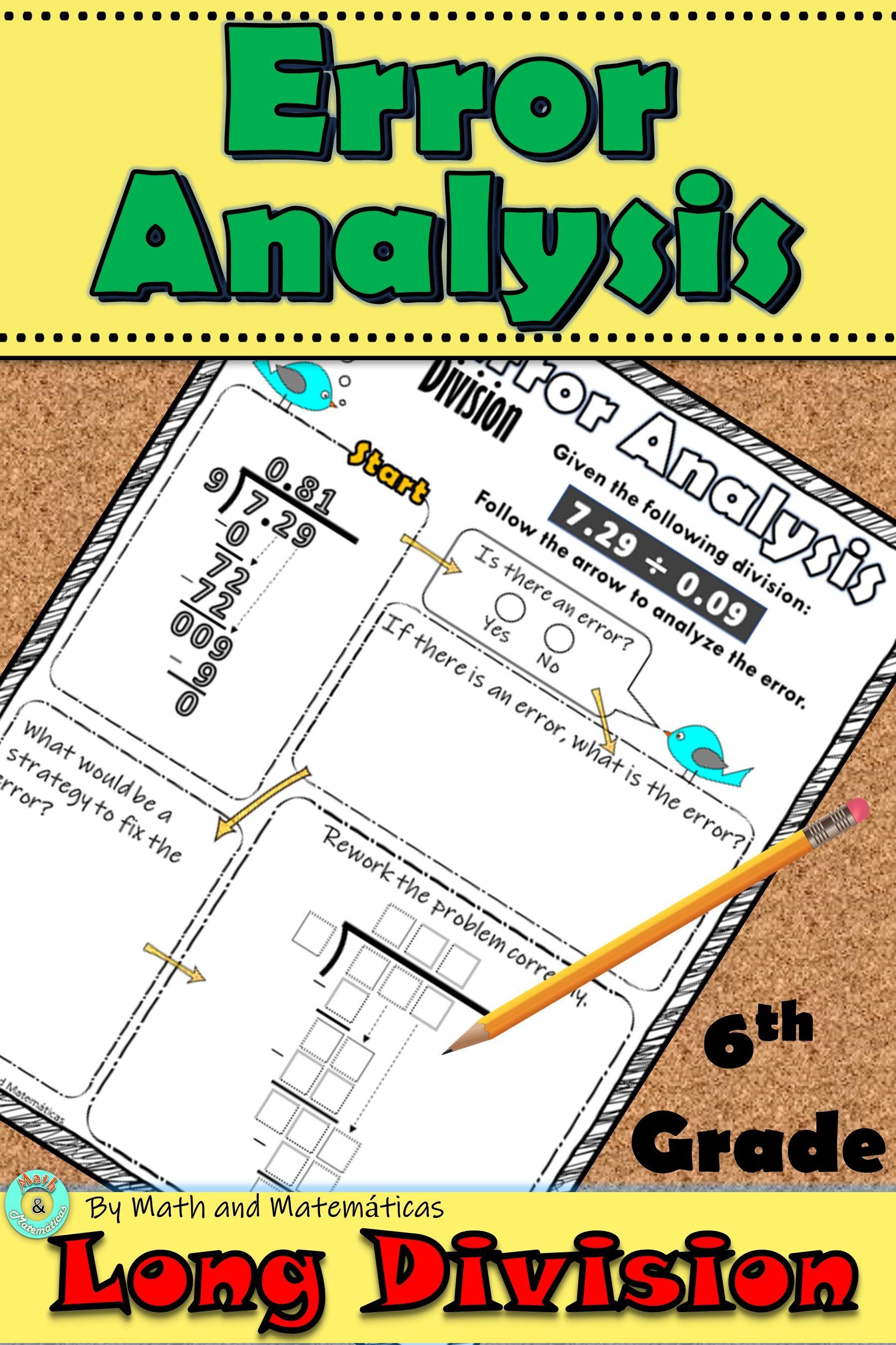 Long Division Errorysis For 6th Grade