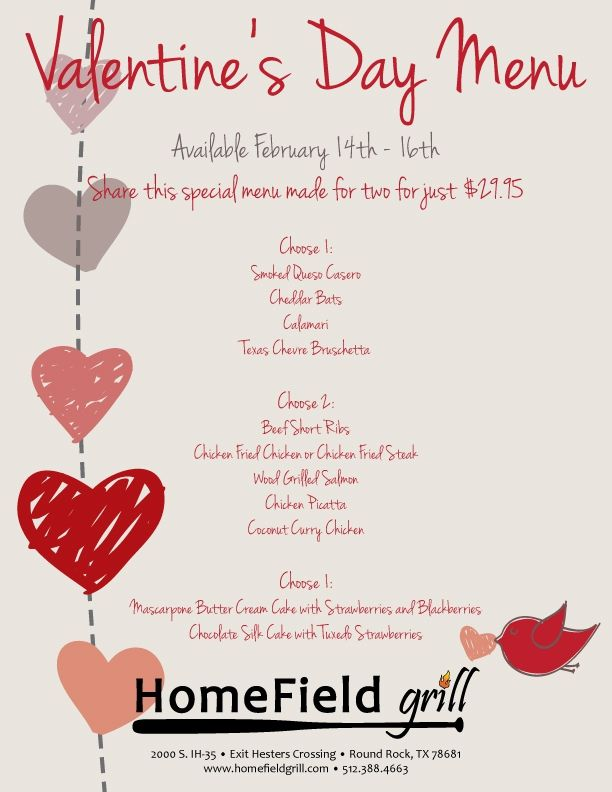 valentine's day special menu | the crafts i <3 | pinterest | menu, Ideas