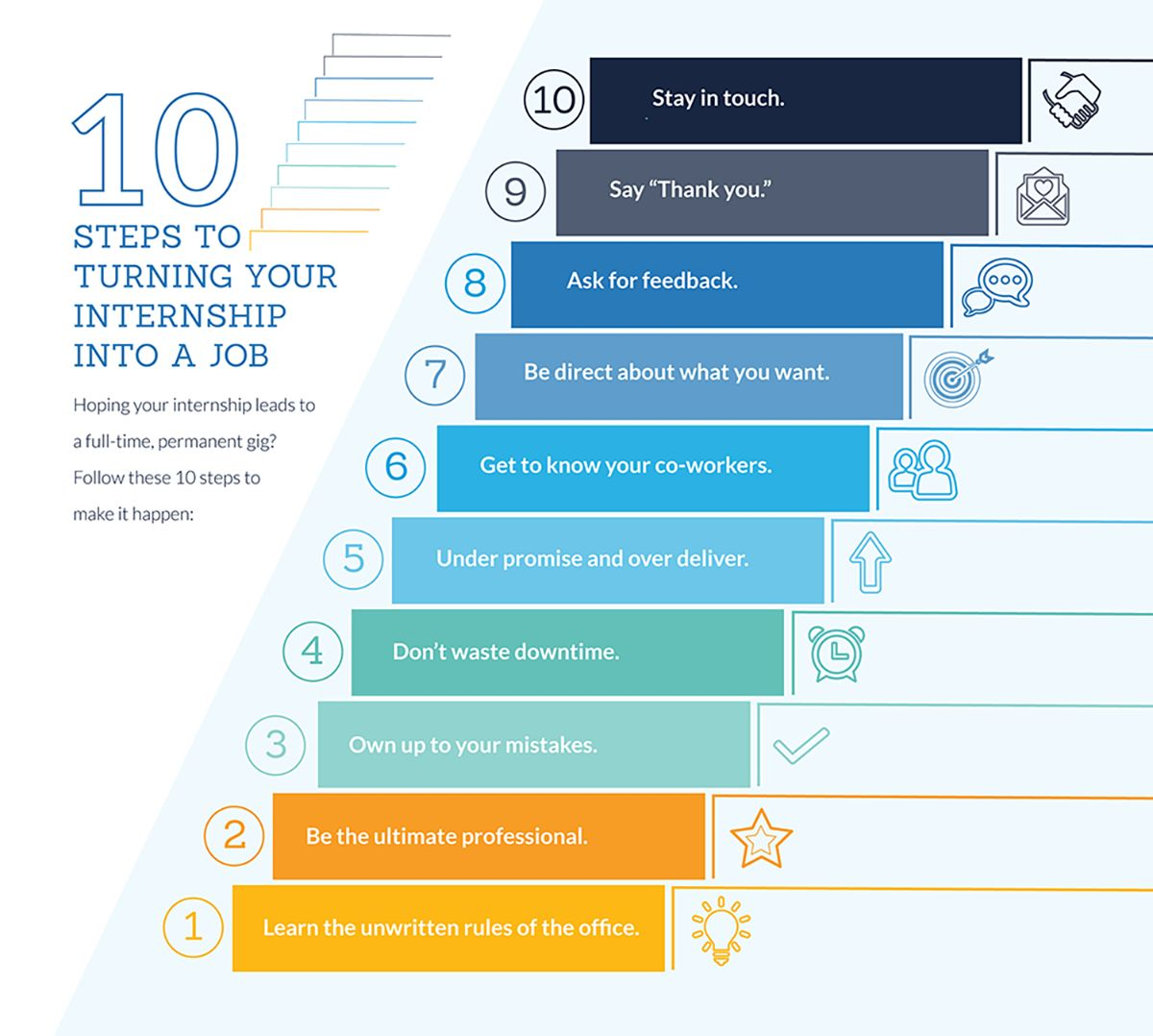 10 steps to turning your internship into a job if you go