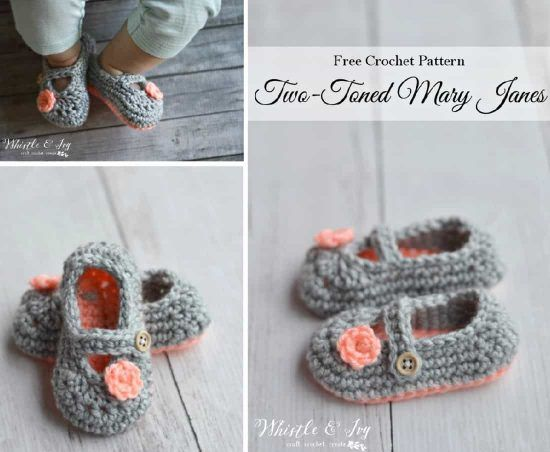 Mary Jane Crochet Booties Video Free Pattern Free Pattern