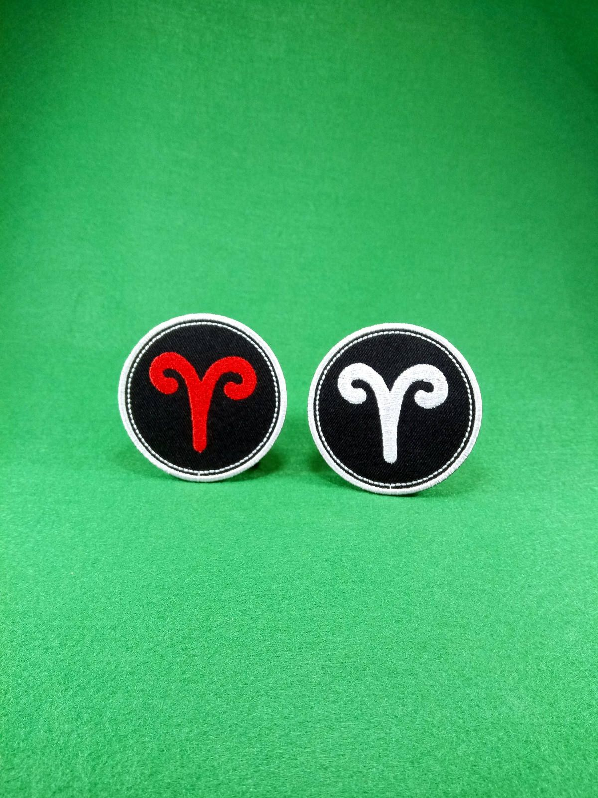 Aries Zodiac Sign Fire Element Astrology Symbol Embroidery Iron