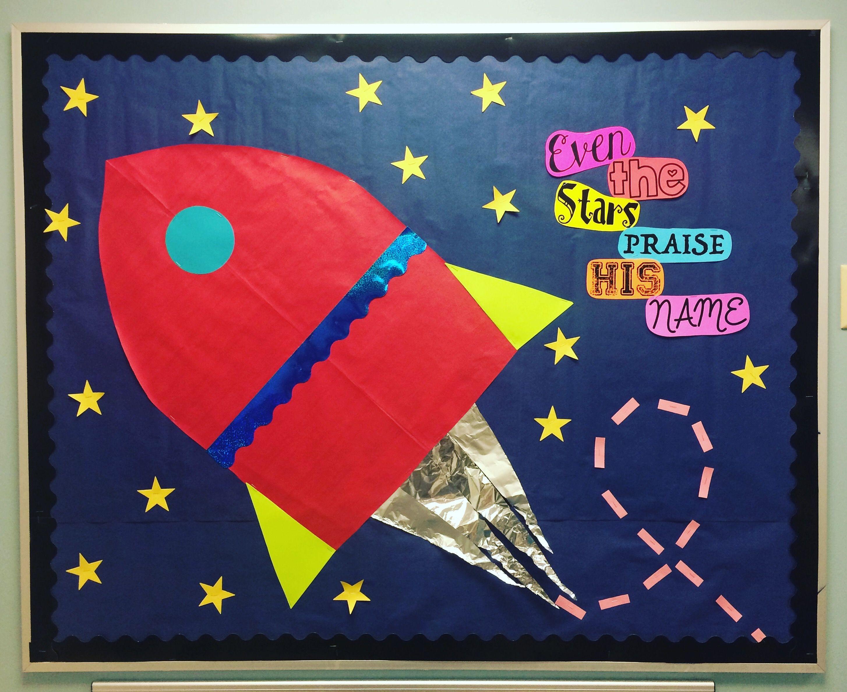 Outer Space Preschool Bulletin Board
