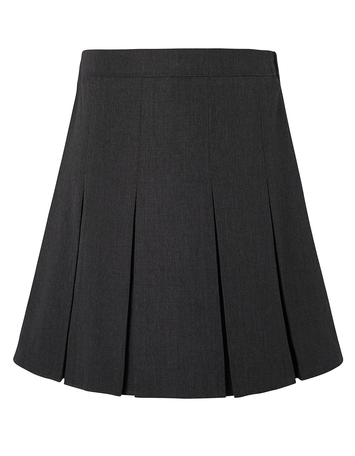 fd57742c13 Grey Pleated School Skirt Asda