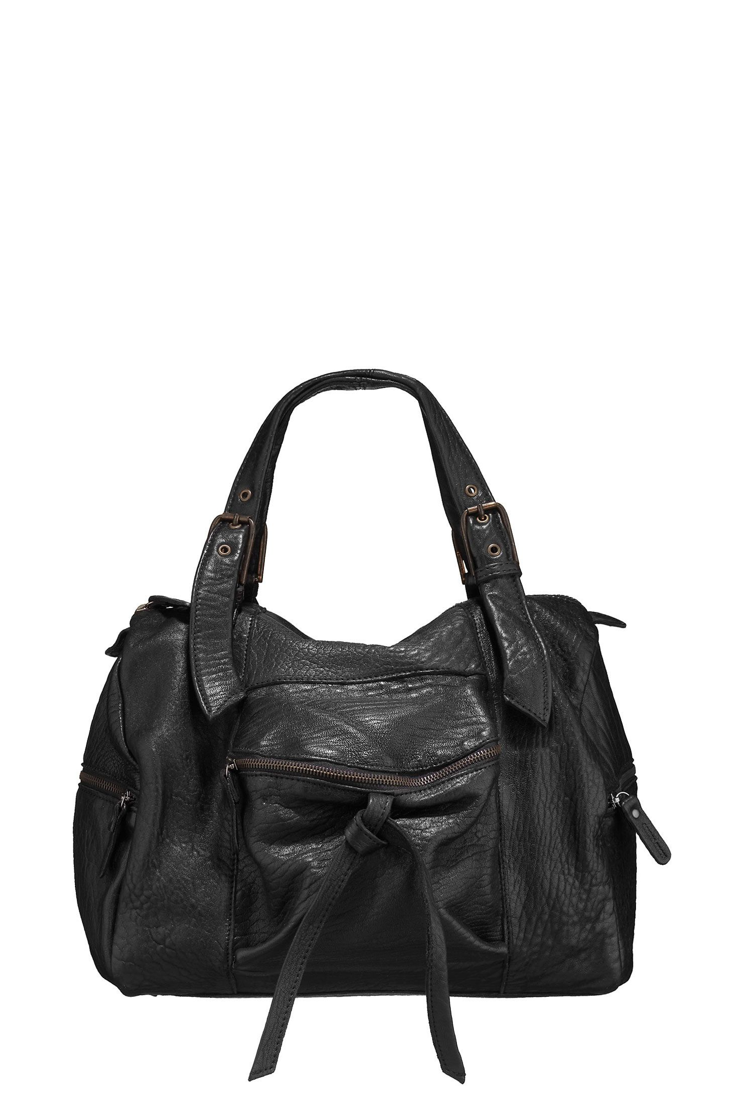 b1f2f5e0a48ce Sac en cuir Tania Made in France Noir Aridza bross sur MonShowroom ...