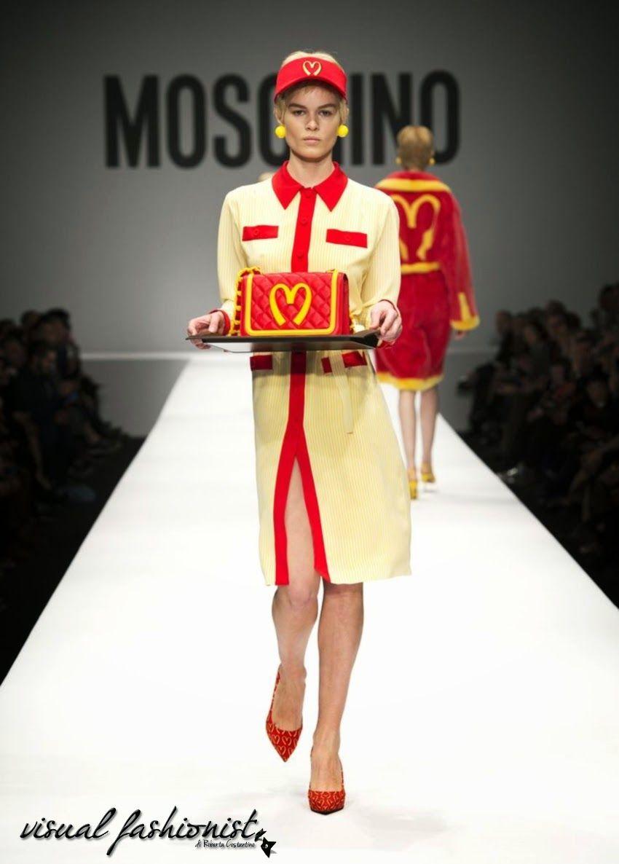 Visual Fashionist: Moschino con Jeremy Scott: la moda fast fashion in stile McDonald è la rivoluzione http://visualfashionist.blogspot.it/2014/03/Moschino-Jeremy-Scott-McDonald-collezione-iphone.html