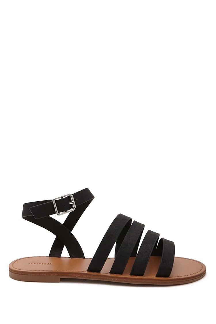 1c18abd20c9f3 Faux Leather Strappy Sandals