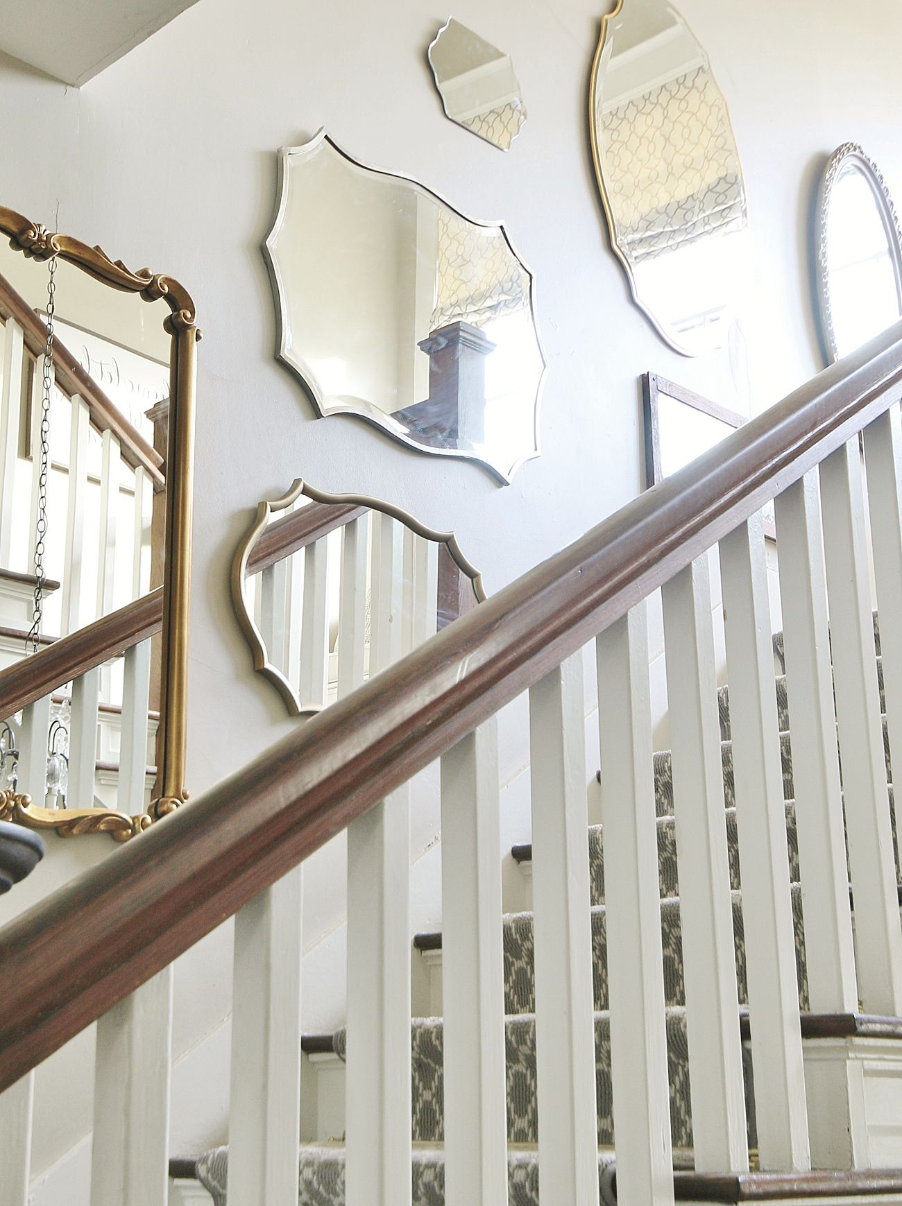 Diy mirrored staircase wall project diy mirror large