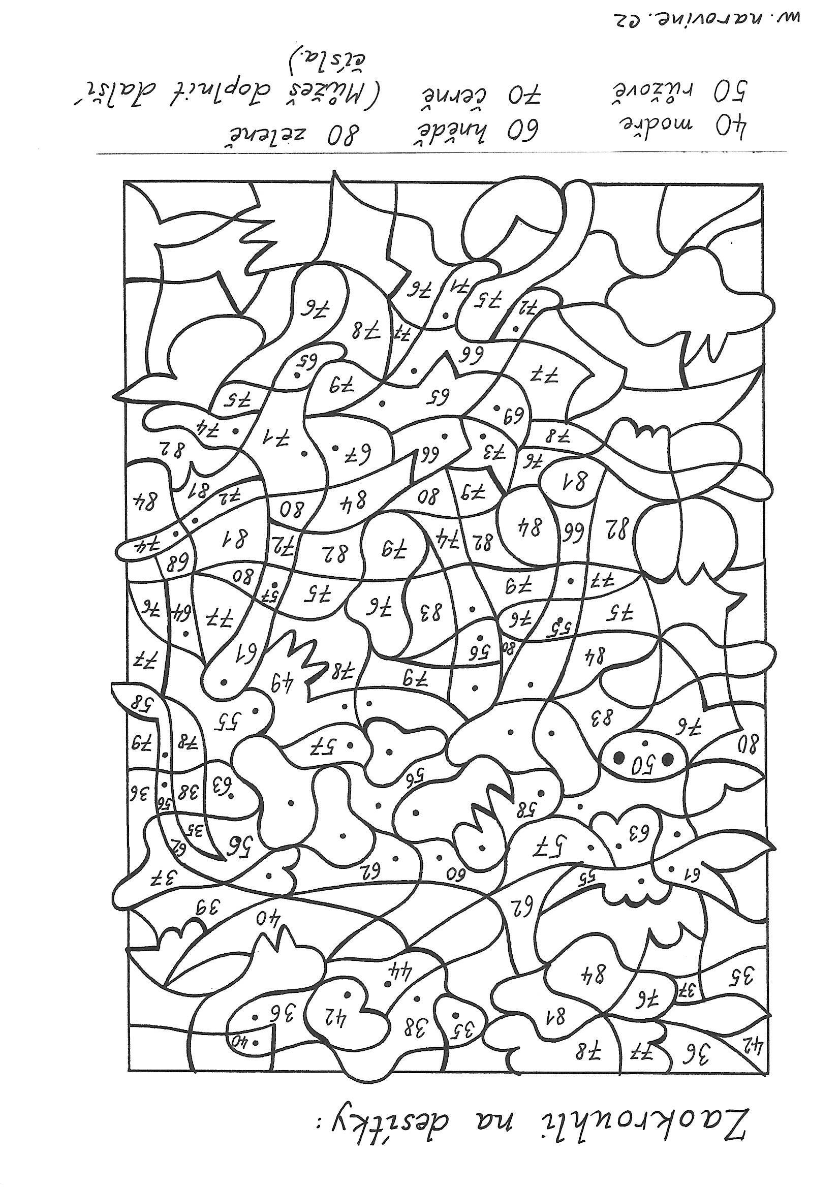 Kleurplaat Rekenen Groep 5 Pin Uživatele Lenka Mokrej Ov 225 Na N 225 Stěnce Matematika