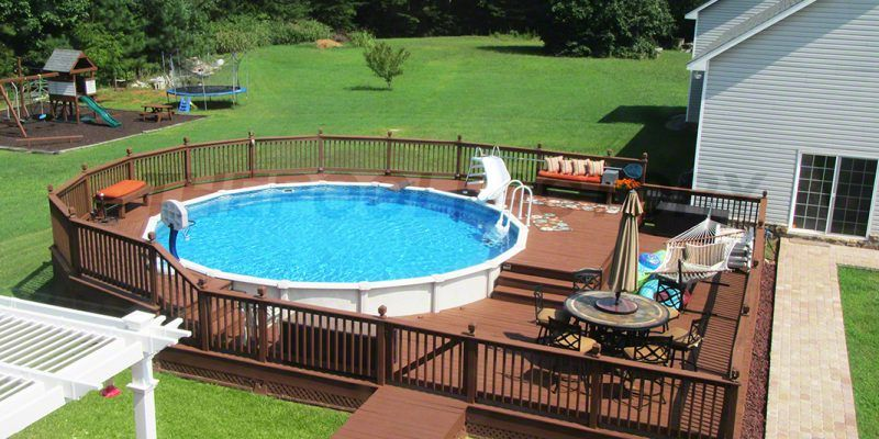 Above ground pool installation photos swimming pool