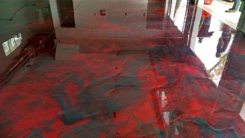 Reflector Enhancer Epoxy Floor Installed By Day S Concrete