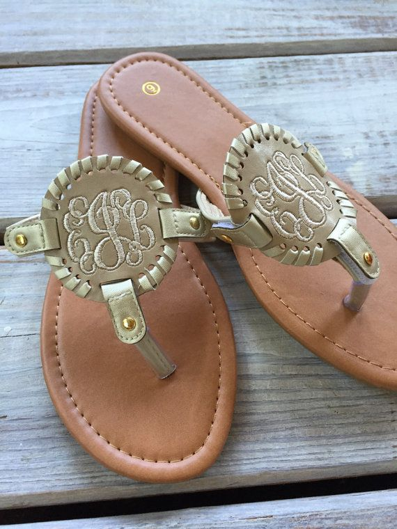 42a0f0535 Braided Medallion Monogrammed Sandals. Braided Medallion Monogrammed Sandals  Southern Belle