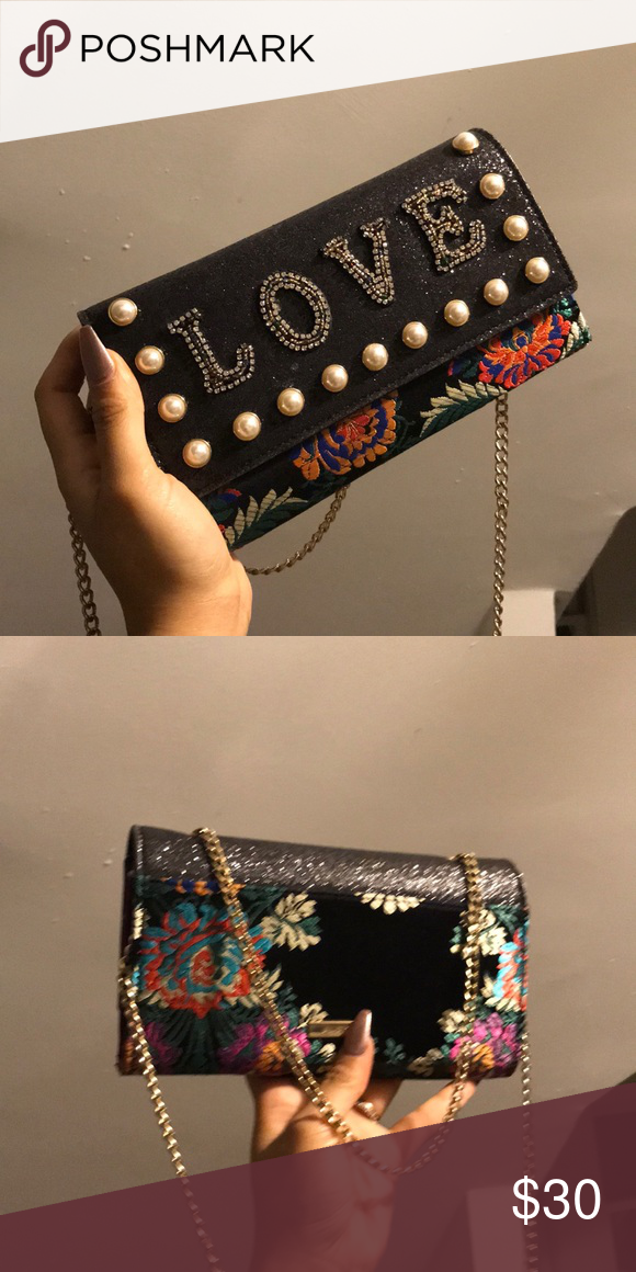 f177962654 Love Clutch Great condition, fits cards and lipstick and small headphones Aldo  Bags Clutches & Wristlets