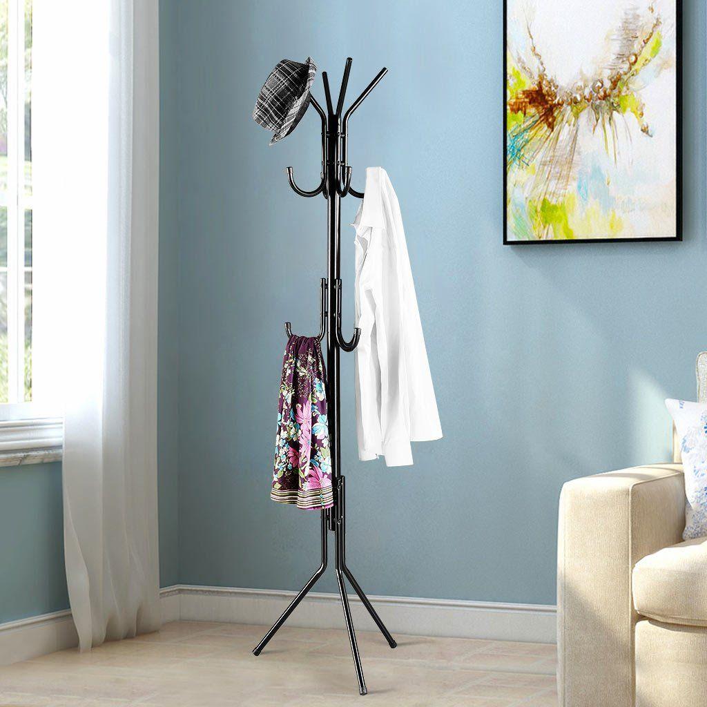 Amazon Standing Entryway Coat Rack Coat Tree Hat Hanger Holder 11