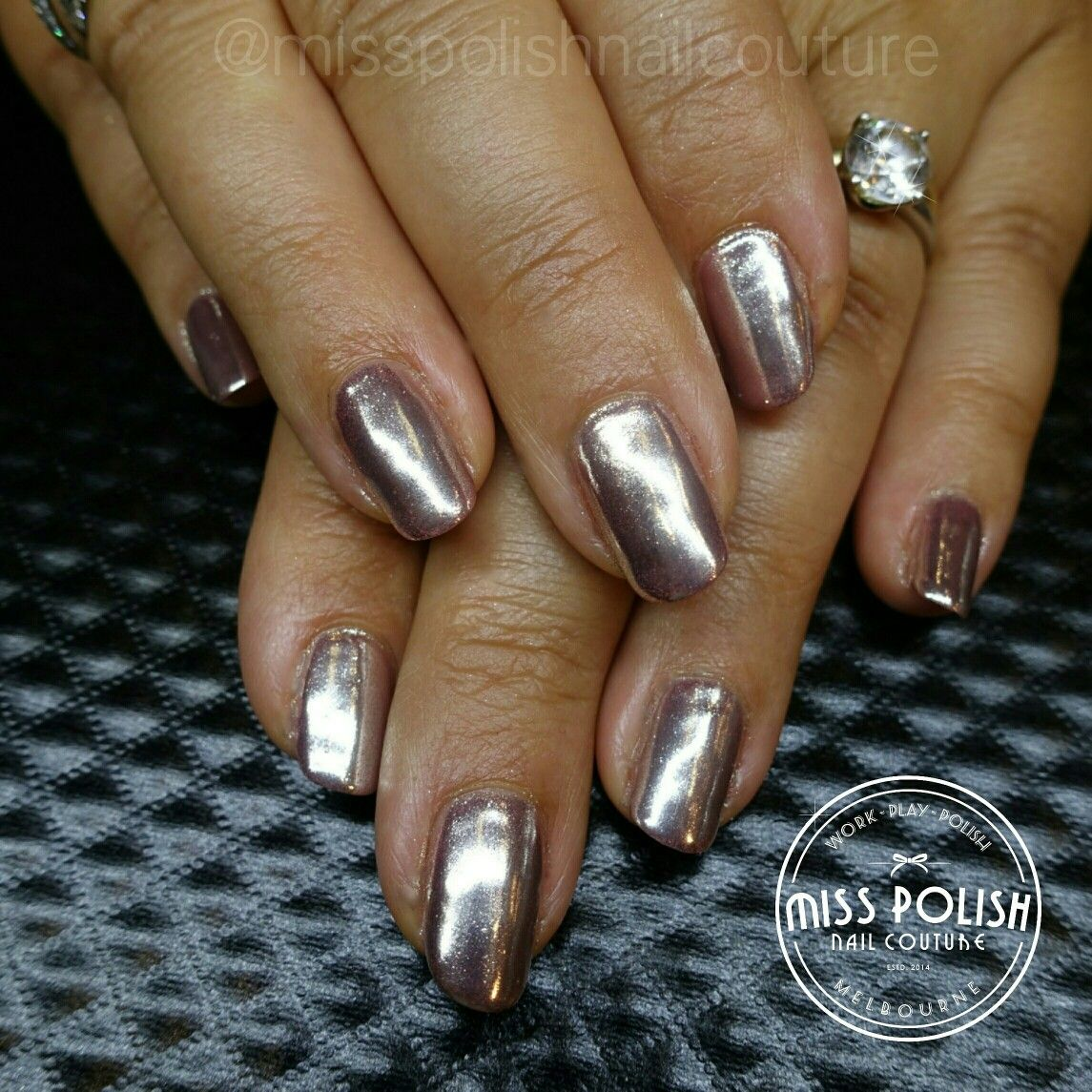 Nail Art Ideas nail art melbourne : Chrome nails. Mirror effect nails. Nail pigments. Nails. Nail art ...