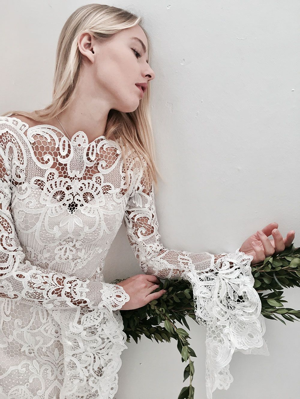 Bold Geometric Patterns Long Sleeves And Lovely Lace Queensland Brides Bohemian Wedding Dress Lace Designer Wedding Gowns Wedding Dresses Lace