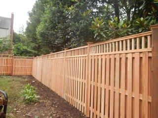 Cedar Privacy Fences Small Courtyard Gardens Fence Outdoor Gardens