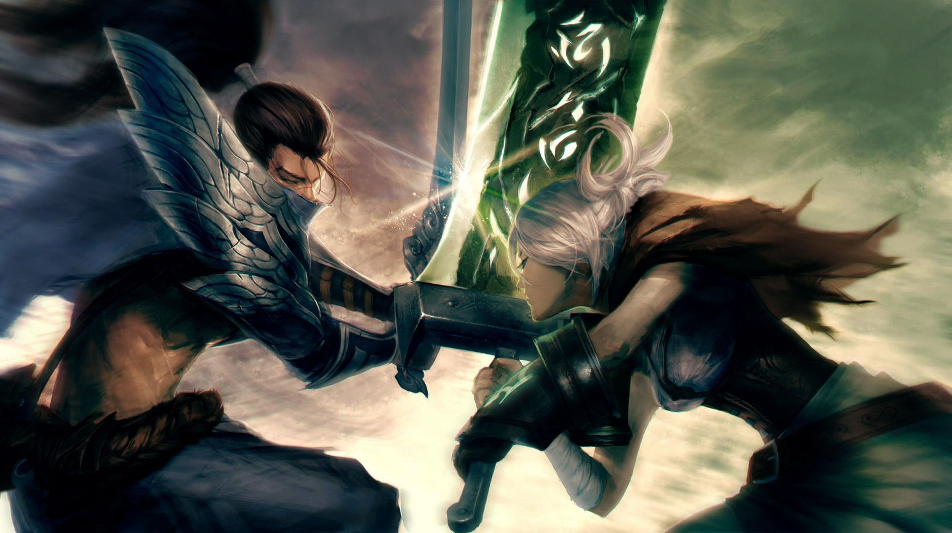 Yasuo And Riven Colored Wallpaper Leagueoflegends Yasuo