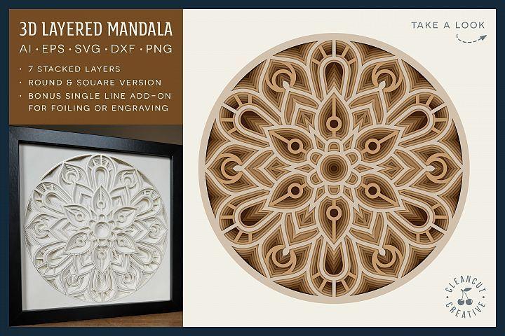 Download Pin On Layered Mandala Svgs And Layered Svgs