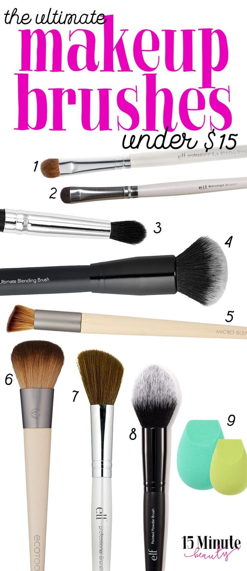 Must Have Makeup Brushes Under 15 Makeup brushes