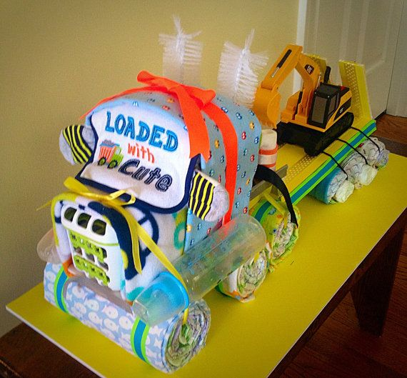 How To Make A  Wheel Tractor Diaper Cake
